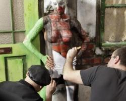 Bodypaintingmodell für die Farbe Messe München_2