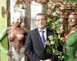 Bodypaintingmodell für die Farbe Messe München_3