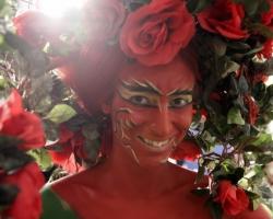 Bodypaintingmodell für die Farbe Messe München_7