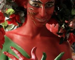 Bodypaintingmodell für die Farbe Messe München_8